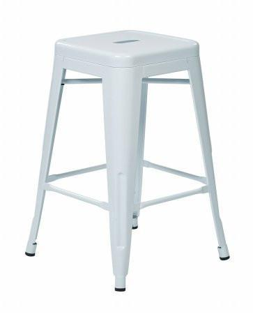 """Find Work Smart / OSP Designs PTR3030A4-11 30"""" Steel Backless Barstool (4-Pack) (White) near me at OFO Orlando"""