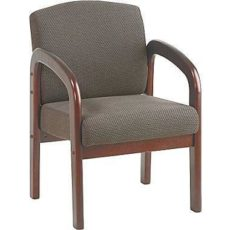 Find Work Smart WD383-316 Faux Leather Mahogany Finish Wood Visitor Chair near me at OFO Orlando