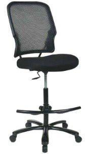 Find Office Star Space Seating 15-37A720D Big Man's Dark AirGrid® Back with Black Mesh Seat Double Layer Seat  Drafting Chair (No Arms) near me at OFO Orlando