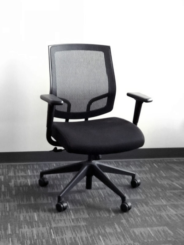Office Liquidation Pre-Own Black Mesh Executive Chair
