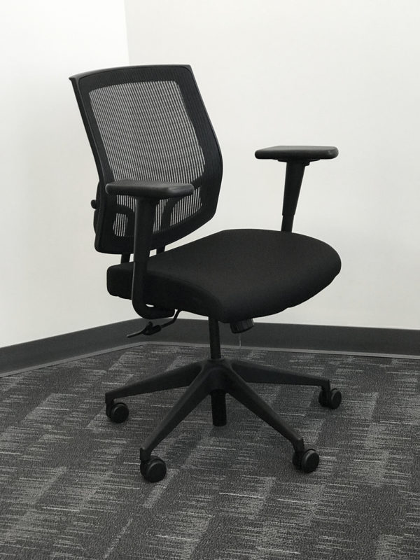 Black Mesh Executive Chair in Black at Office Liquidation