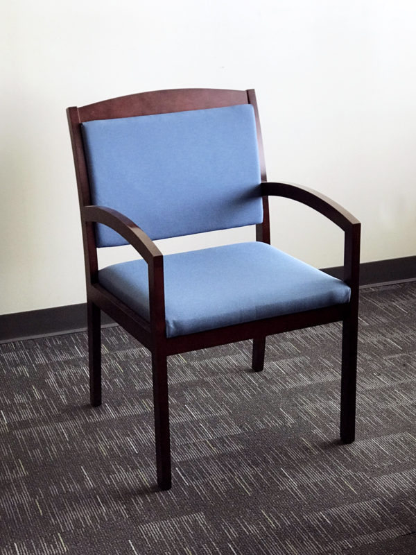 Office Liquidation Pre-Own Blue Reception Chair