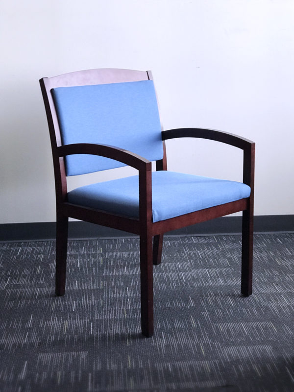 Blue Reception Chair in Blue at Office Liquidation
