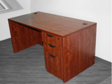 Find used cherry laminate desk shelves at Office Liquidation