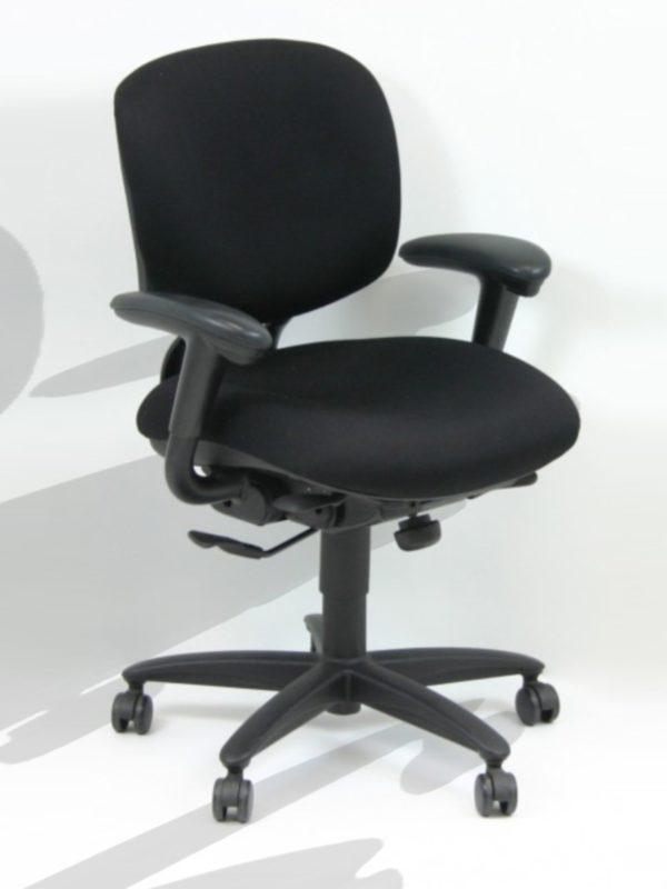 Find used haworth black chairss at Office Liquidation