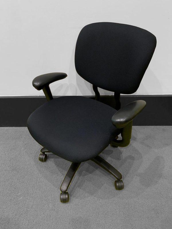 Haworth Black Chairs in Black at Office Liquidation