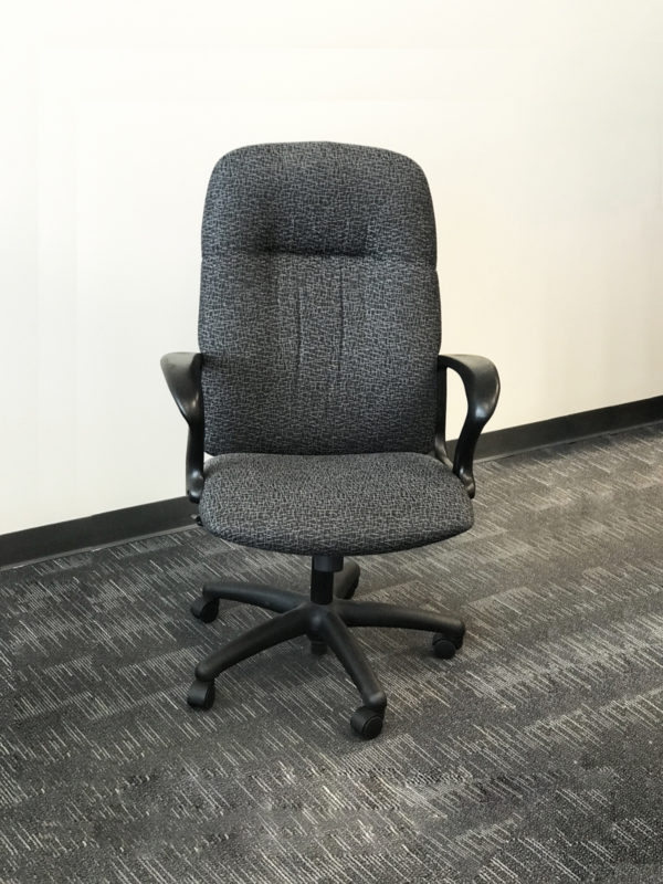 Office Liquidation Pre-Own High Back Grey Chair