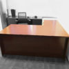 Office Liquidation Pre-Own L-Shaped Cherry Desk