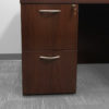 L-Shaped Cherry Desk in Cherry at Office Liquidation