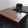 Office Liquidation Pre-Own L-Shaped Mahogany Desk