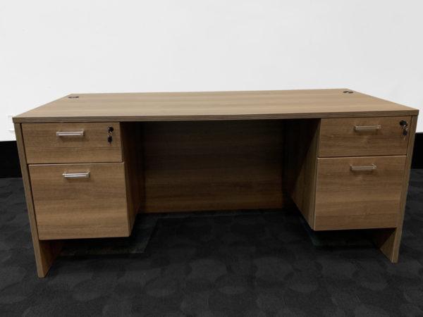 Cherryman Amber Desk in Park Walnut at Office Liquidation