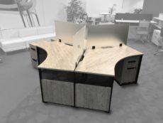 Find used single 120 degree desks at Office Liquidation
