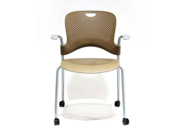 Find used Herman Miller Caper brown stacking chairs at Office Furniture Outlet