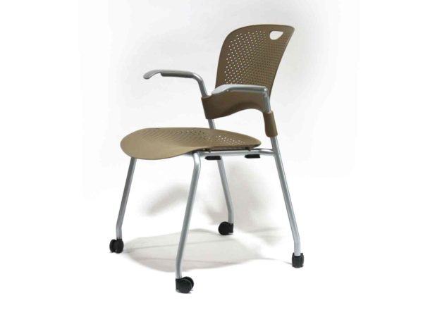 Office Furniture Outlet new Herman Miller Caper Brown Stacking Chair