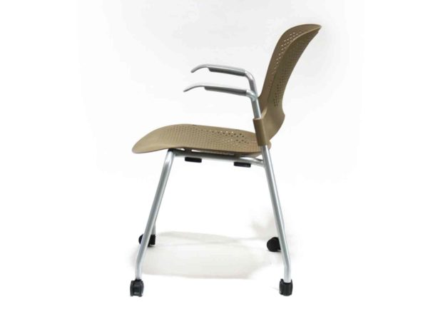 Herman Miller Caper Brown Stacking Chair in Brown / Cappuccino at Office Furniture Outlet