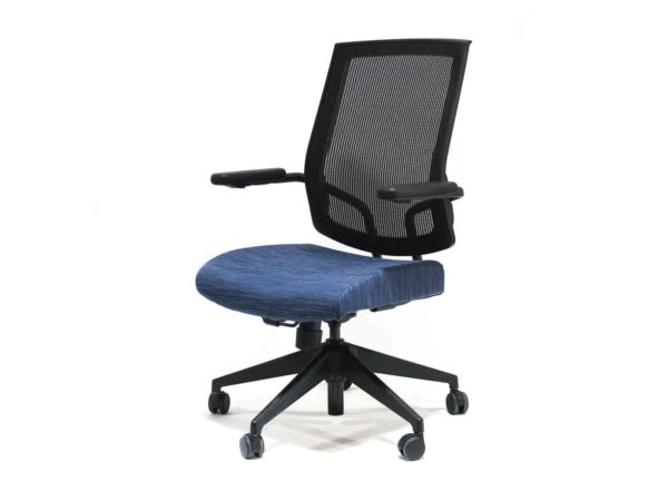 Black and Blue Sit on It Focus in Blue at Office Furniture Outlet