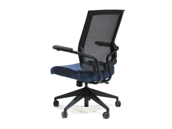 New Blue Connor Blue with black chair built for ergonomic excellence and comfort. from Office Furniture Outlet