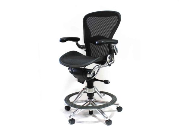 Find used Herman Miller Aeron black stools at Office Furniture Outlet
