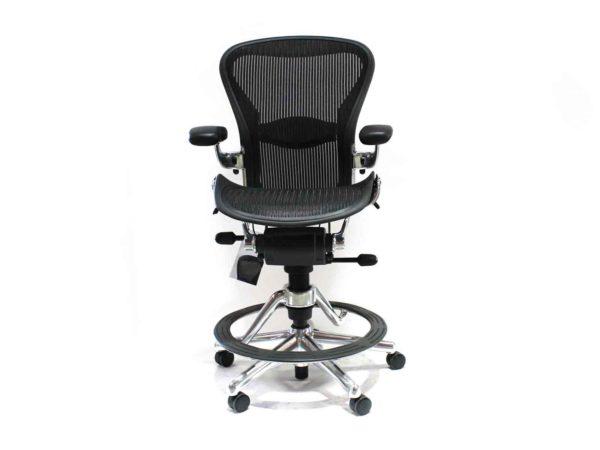 Office Furniture Outlet new Herman Miller Aeron Black Stool