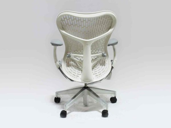 Herman Miller Mirra 2 Bar Height Stool White in White at Office Furniture Outlet
