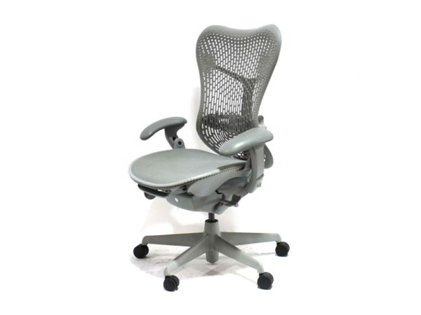 Office Furniture Outlet new Herman Miller Mirra 2 Bar Height Stool Gray