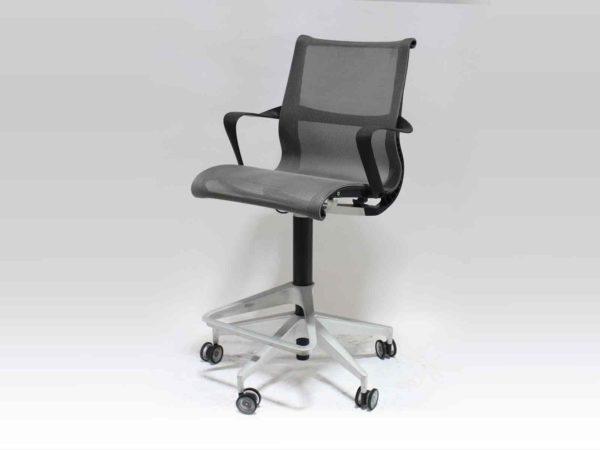 Find used Herman Miller gray setu stools at Office Furniture Outlet