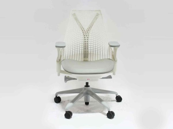 Find used Herman Miller white Sayl chairs at Office Furniture Outlet