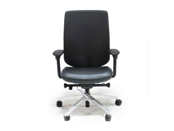 Find used Herman Miller black leather Verus chairs at Office Furniture Outlet