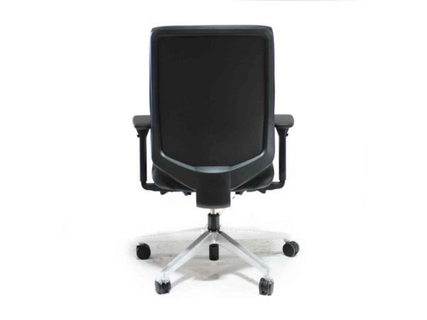 Herman Miller Black LEATHER Verus Chair in Gray at Office Furniture Outlet