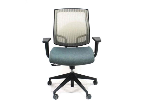 Find used Sit On It Focus green chair (sand mesh back and swivel tilt)s at Office Furniture Outlet