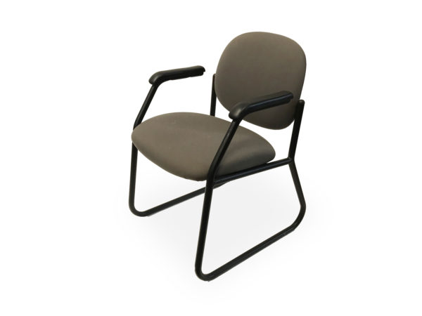 Find used green side/guest chair with black metal bases at Office Furniture Outlet