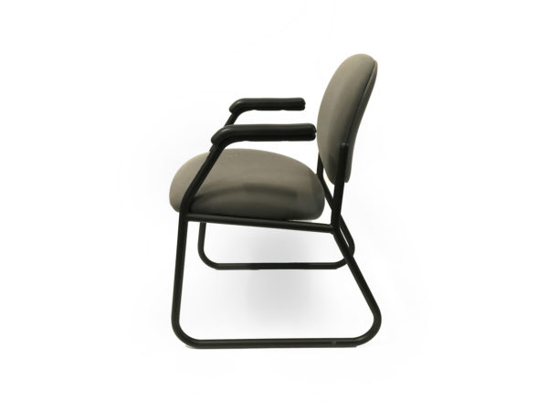 Office Furniture Outlet Preowned Green Side/Guest Chair With black Metal Base