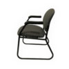 Green Side patterns side/Guest Chair With black Metal Base in Green at Office Furniture Outlet