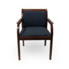 Office Furniture Outlet Preowned Kimball Dark Wood Base Blue Cushion Guest/Side Chair
