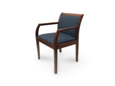 Find used kimball dark wood base blue cushion guest/side chairs at Office Furniture Outlet