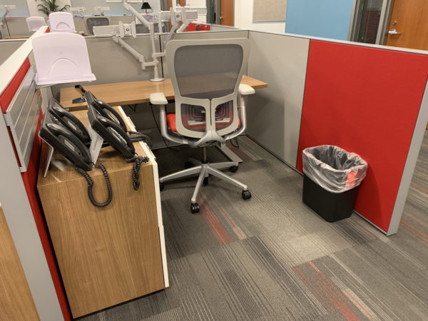 Office Furniture Outlet Used Haworth Compose Storage Right-Hand Combination Unit Special Features: 1.)