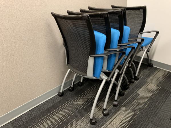 Office Furniture Outlet Used Blue Haworth Seminar X99 Nesting Chair