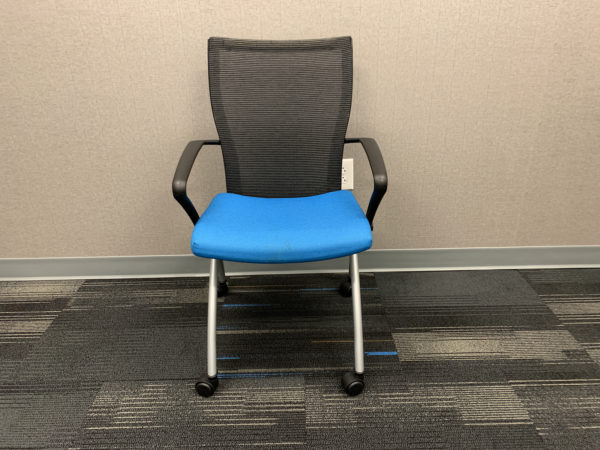 Blue Haworth Seminar X99 Nesting Chair in Blue at Office Furniture Outlet