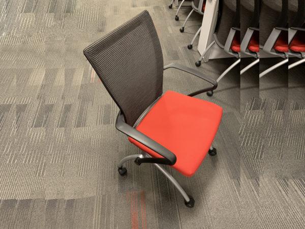 Orange Haworth Seminar X99 Nesting Chair in Orange at Office Furniture Outlet