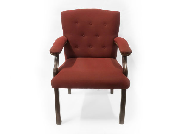Office Furniture Outlet Preowned Hon Side guest mahogany Red upholstery
