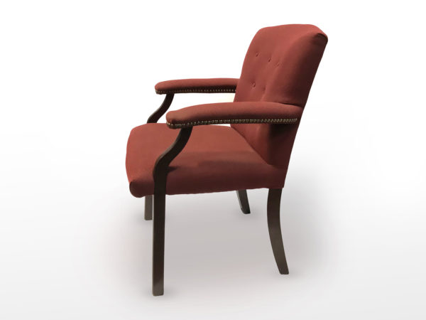 Hon Side guest mahogany Red upholstery in Red at Office Furniture Outlet