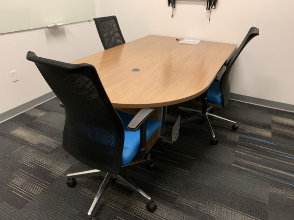 Office Furniture Outlet Used Haworth D-Shaped Convergent Worksurface 30D X 72W