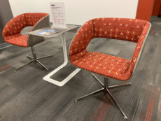 Find used Luci Series 4-Prong Base Backdrop Lounge Chair On Ash X Factor Sangrias at Office Furniture Outlet