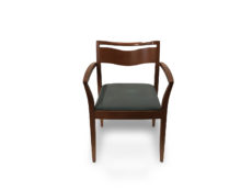 Find used hon side guest wood base green cushion chairs at Office Furniture Outlet
