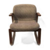 Office Furniture Outlet Preowned Lowenstein Wood and pattern upholstery chair