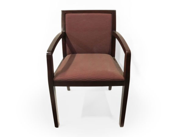 Office Furniture Outlet Preowned Wood base and burgundy upholstery chair