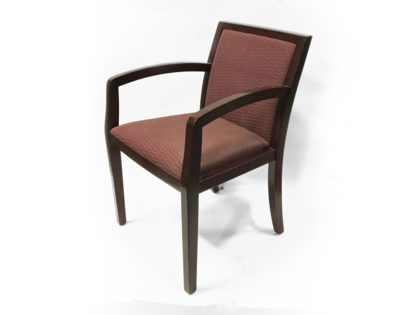Find used wood base and burgundy upholstery chairs at Office Furniture Outlet