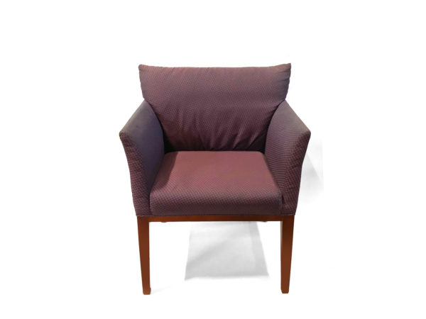 Office Furniture Outlet Preowned Kimball Burgundy Side Chair