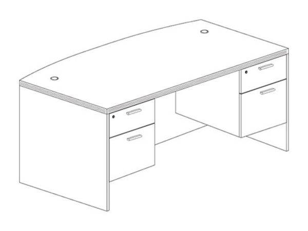 Office Furniture Outlet New 3641x71 Bow Desk