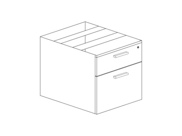 22 Deep Box/File Pedestal in Gray at Office Furniture Outlet